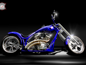 Blue Costum KIng Bike