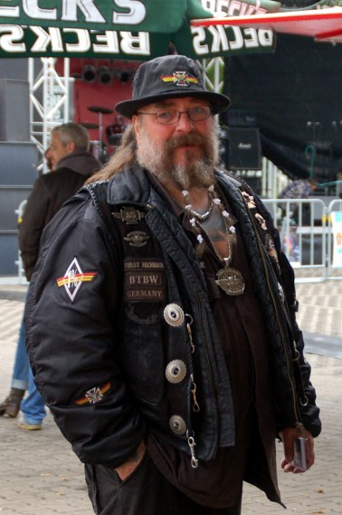 First Member Lommel des BTBW MC Germany. eine Rocker-Legende!