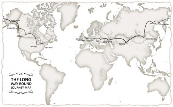 Die Route der beiden Schaupieler-Freunde