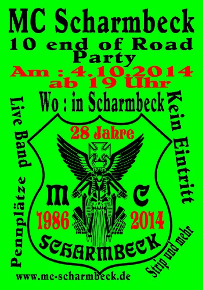 10 end of Road Party