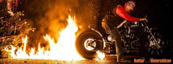 Auf einer Brennplatte werden die Reifen wieder brennen!