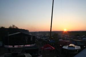 Der Bikerplatz bei Sonnenuntergang