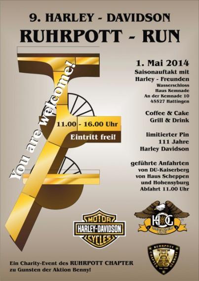 Am 01.Mai startet die 9te Auflage des Runs vom Ruhrpott-Chapter der HOG's.