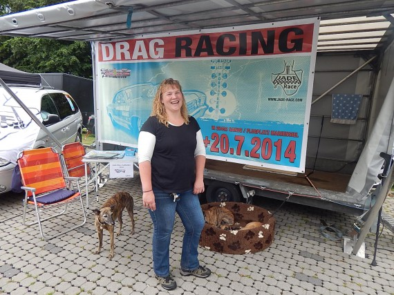 Iris machte Werbung für das Jade Race in Mariensiel im Juli.