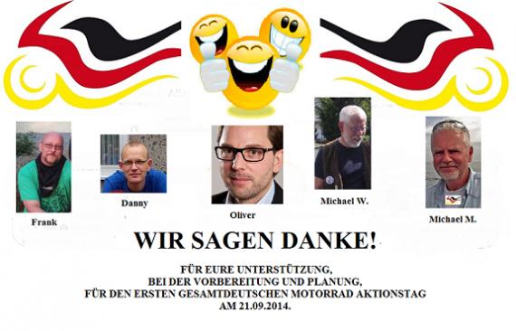 Das Team hinter dem ersten deutschen Bikerday!