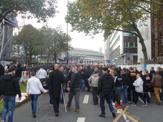 Kurz vor dem Wiedereintreffen auf dem Breslauer Platz!