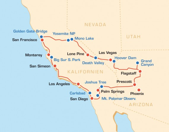 Die Kalifornien-Tour bietet euch ein pralles Erlebnis-Paket!