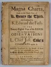Die Magna Charta ist ein berühmtes Beispiel! Eine Charta legt die Rules für alle fest!