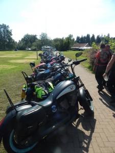 Viele Teilnehmer sind mit dem Bike angereist.