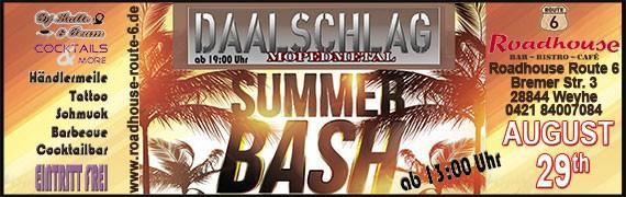 Am 29.08. steht der Summer Bash an. Wir dürfen uns auf ein tolles Event freuen. Kein Eintritt!