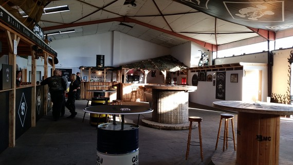 Das Klubhaus des Blazes MC Nordland liegt direkt in Ocholt am Bahnhof. Sehr schickes Teil!