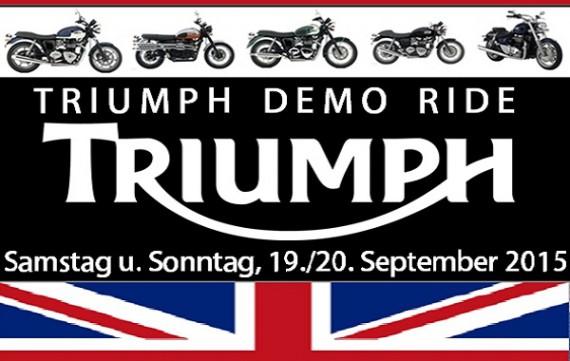 Das Open House von Viking Cycles bietet u.a. auch Triumph-Demo-Rides
