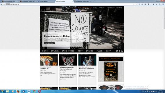 Im direkten Vergleich der Screenshot der Startseite von Ride Free. Leider seit dem 09.12.2014 nicht mehr aktiv!