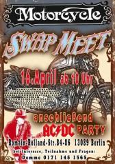 Der Swap Meet 2016 wird mit einer AC/DC-Night verbunden. Great Stuff x 2 also!