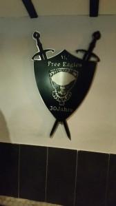 Schickes Gastgeschenk an den Free Eagles MC Delmenhorst. Demnächst gibbet wohl wieder wat zum Aufhängen!