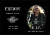 Freddy 1%er verstarb  im März diesen Jahres an Herzversagen!