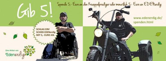 Das Projekt EDENerdig unterstützt die Aktionen des Krüppelpredigers.