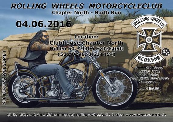 Der North Run am 04. Juni verspricht das Jahres-Highlight des Rolling Wheels MC North zu werden!