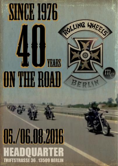 Da rollt was auf euch zu. In diesem Jahr ist das 40th Anniversary!