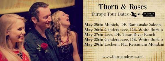 Thorn & Roses aus Kanada gastieren am 28. Mai im White Buffalo. Ein musikalischer Leckerbissen!