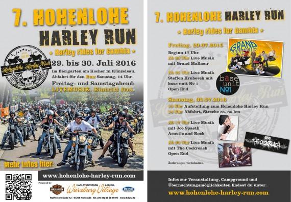 Der Harley Run Hohenlohe lockt mit einem vielfältigen Programm!
