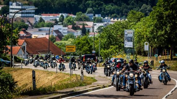 Das Highlight ist in Hohenlohe der Harley Run am Samstag.