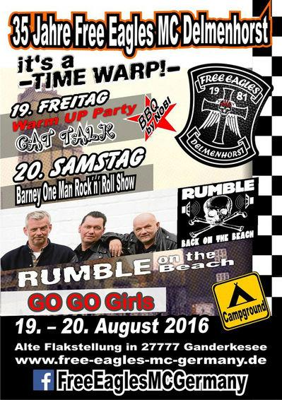 An diesem Wochenende geht beim Free Eagles MC Delmenhorst der Punk ab!