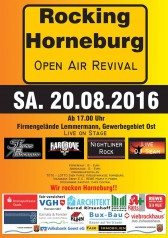 Den Flyer find ich nicht so prall, aber die Bands bei Rocking Horneburg sind der Burner.