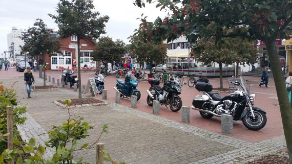 Bikes sah trotz bestem Wetter man nicht so arg viele in den 6 Tagen.