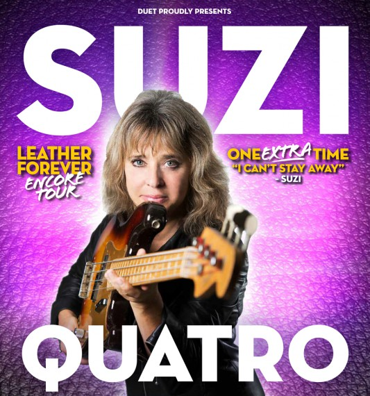 Suz Quatro bringt ihre Welthits mit und wird das Motorcycle jamboree abrocken!