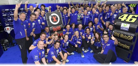 Riesige Freude beim gesamten Team von Yamaha.