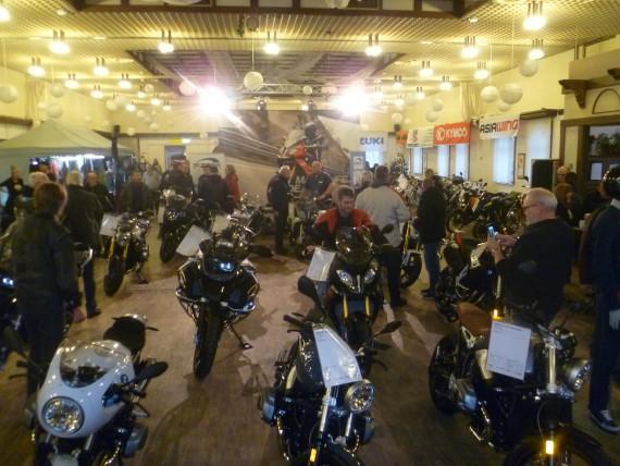 In der großen Halle dominierten ganz klar die bikes!