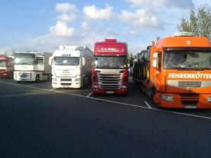 Der Autohof Schwarmstedt bietet 200 Plätze für LKw's, Caravans, usw..