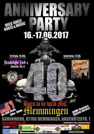 Der BTBW MC Memmingen feiert 40 Jahre on the Road!