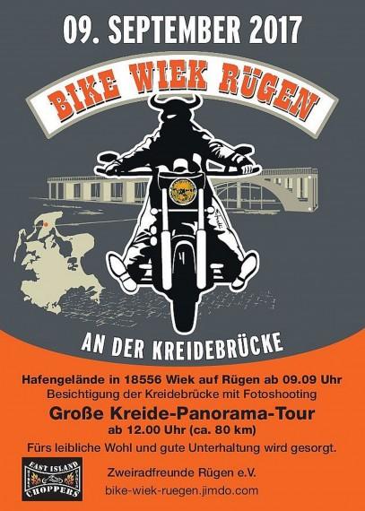 Der offizielle EVent-Flyer der Bike Wiek Rügen!