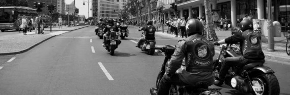 Der Army Vets MC Germany on the Road.